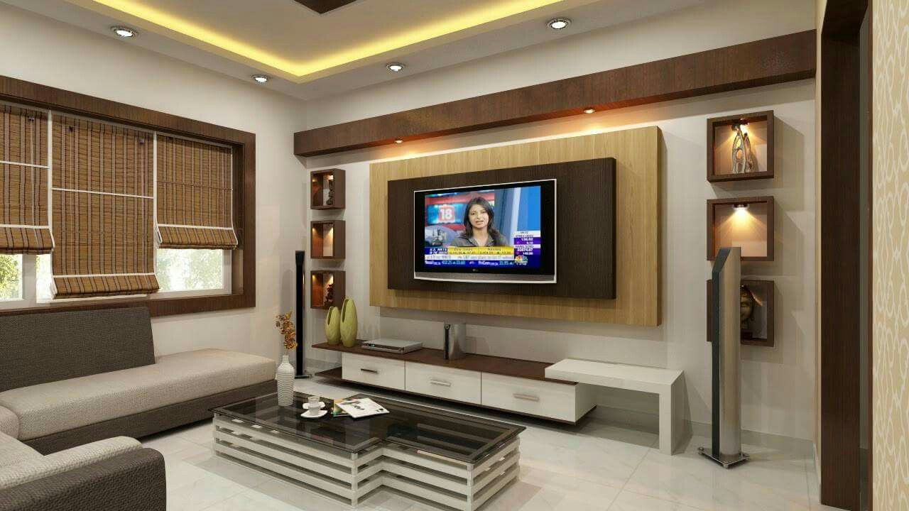 Pin by vidya reddy on tv unit small in 2019 painel sala painel de led salas - Living room tv ideas ...