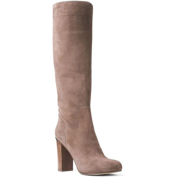 1fa637d5564 Michael Michael Kors Women s Janice Suede Knee-High Boots ( 221) ❤ liked on  Polyvore featuring shoes