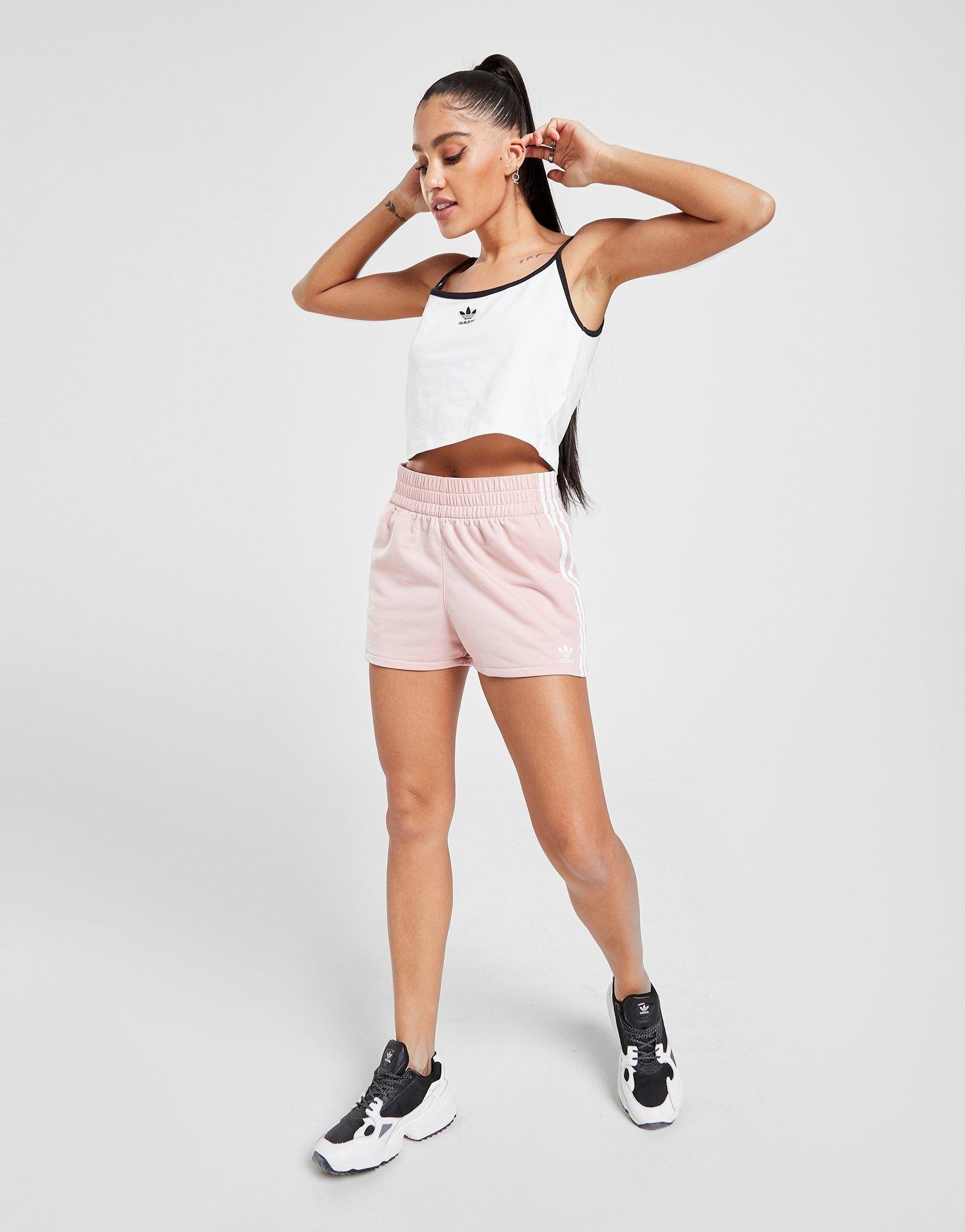 buy pink adidas originals 3 stripes poly shorts jd sports in 2020 pink adidas jd sports adidas originals pinterest