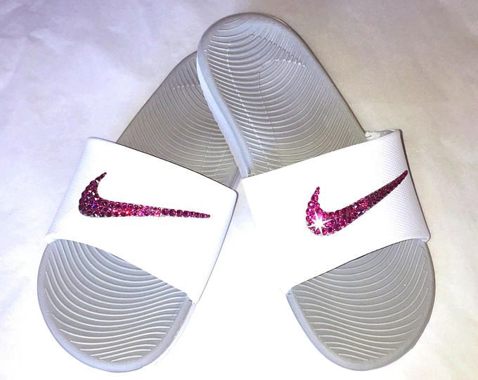 Womens Nike Benassi Slides with hand placed Swarovski crystals - Sparkle  Slides - Swarovski Nike - Bling Slides - Crystahhled 4f7149c37