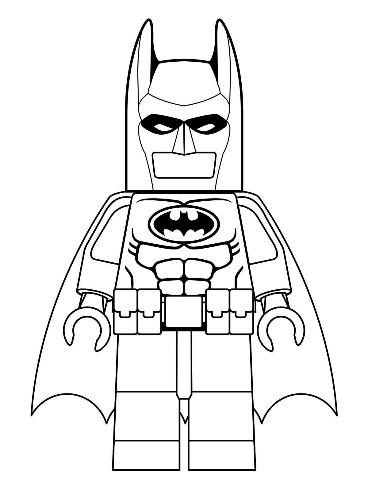I am Lego Batman - Coloring Pages  Lego movie coloring pages