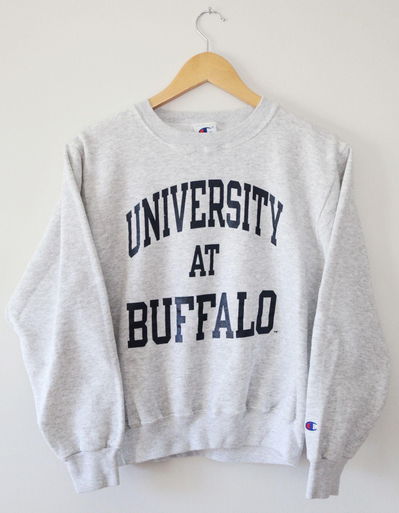 Vintage University at Buffalo Bulls Champion Crewneck Sweatshirt ...