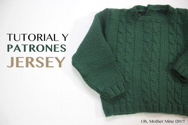 Tutorial y patrones gratis Jersey de ochos para bebé (Oh, Mother ...