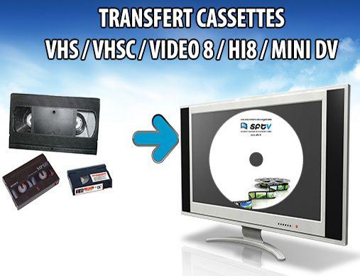 Transfert de vos anciennes cassettes VHS sur dvd