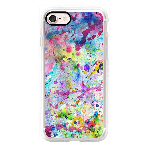 Abstract Bright Watercolor Paint Splatters Pattern - iPhone 7 Case,... ($35) ❤ liked on Polyvore featuring accessories, tech accessories, iphone case, iphone cases, iphone cover case and apple iphone cases