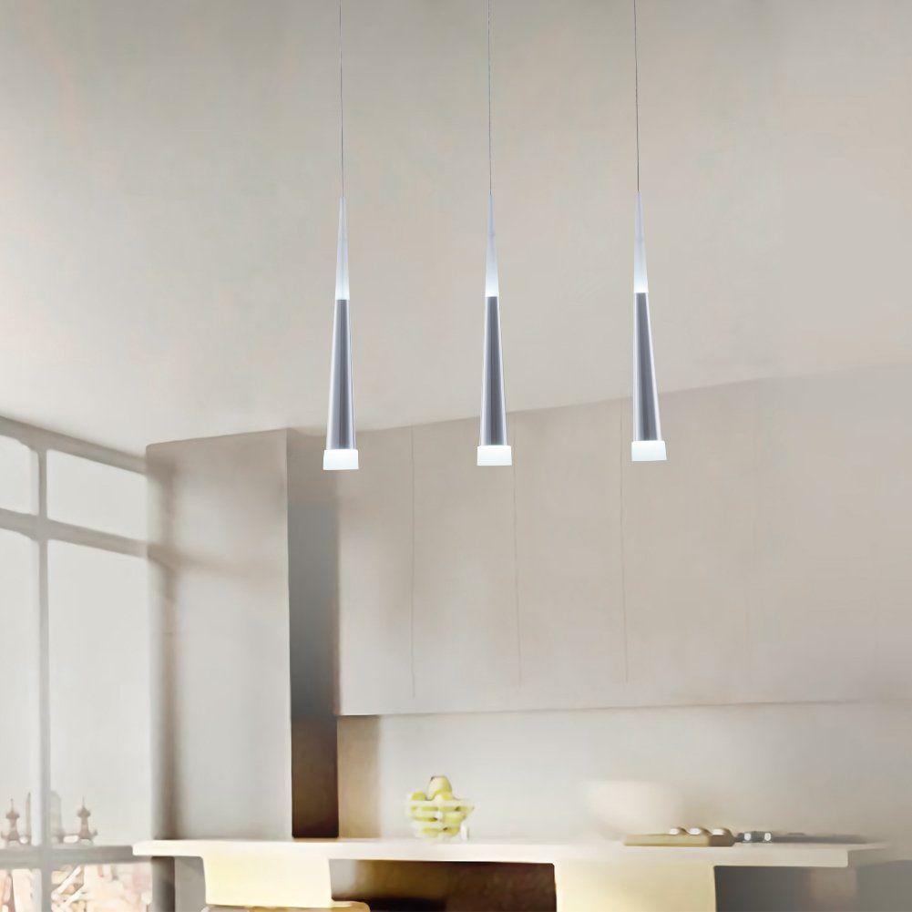 Modern Led Cone Pendant Light18w Up Down Acrylic Hanging Ceiling Light3light Adjustable Pendant Light Dining Room Lighting Cone Pendant Kitchen Island Lighting
