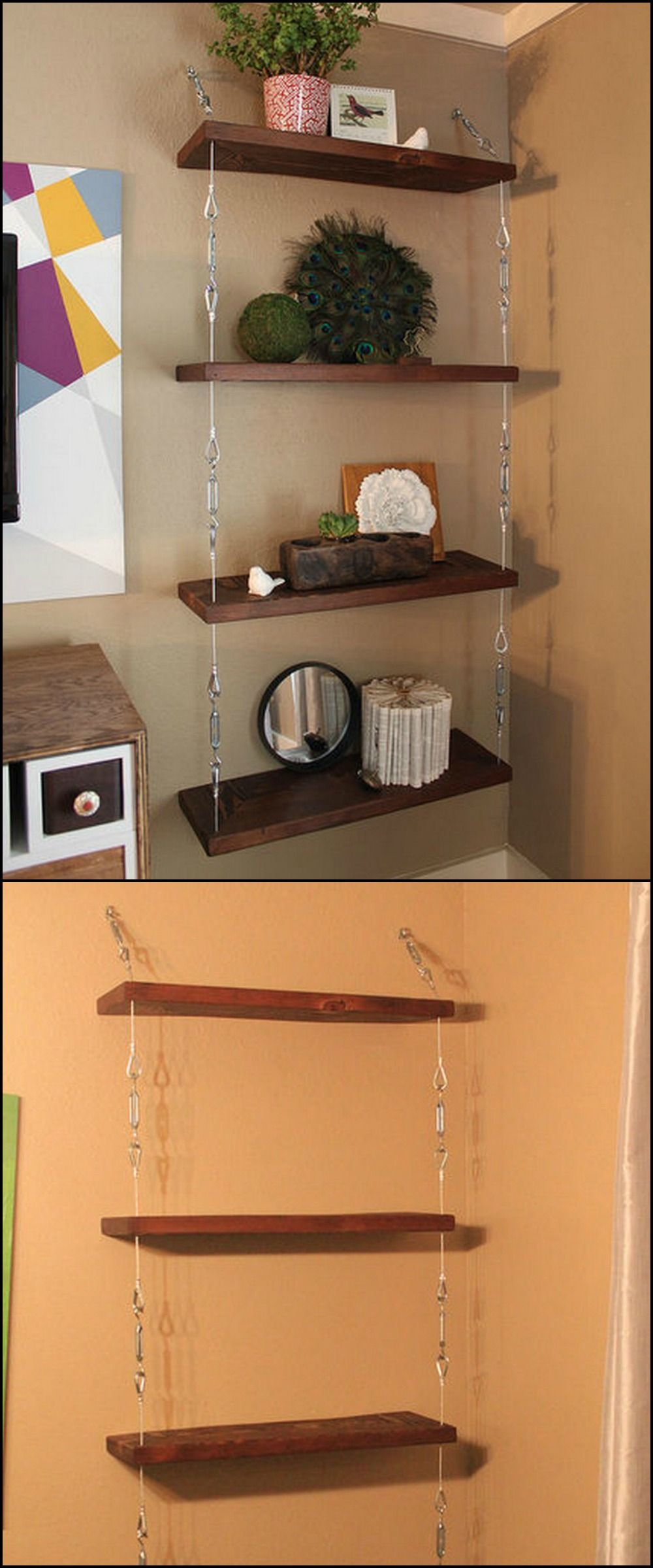 Build a hanging shelf watch it take shape and be inspired to make