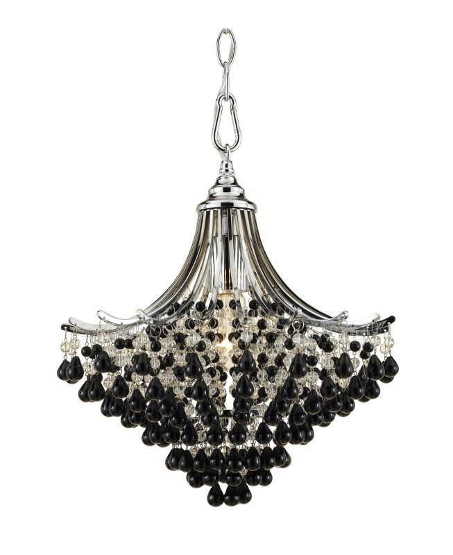 "AF Lighting 7491-1H Elements Series ""Spellbound"" Single-Light Pendant with Clear Chrome Indoor Lighting Pendants"