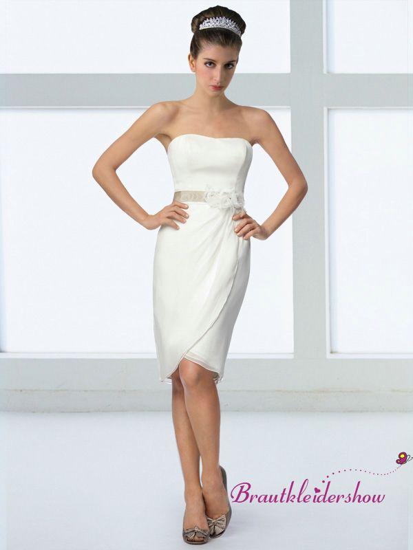 Etui Kurz Hochzeitskleid Knospe Stilvoll Standesamt GWRW149 €270.40 ...