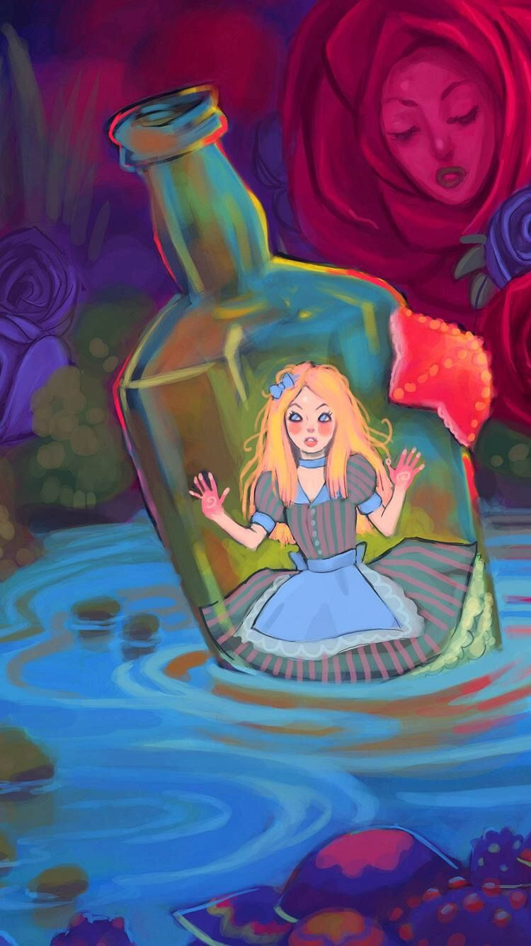 Alice In Wonderland In Her Little Drink Me Bottle Alice In Wonderland Drawings Alice And Wonderland Quotes Alice In Wonderland