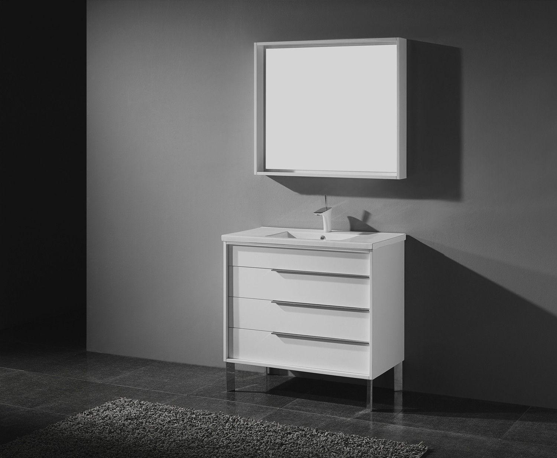 Bt Adornus Milano 30 Inch Modern Bathroom Vanity Set White
