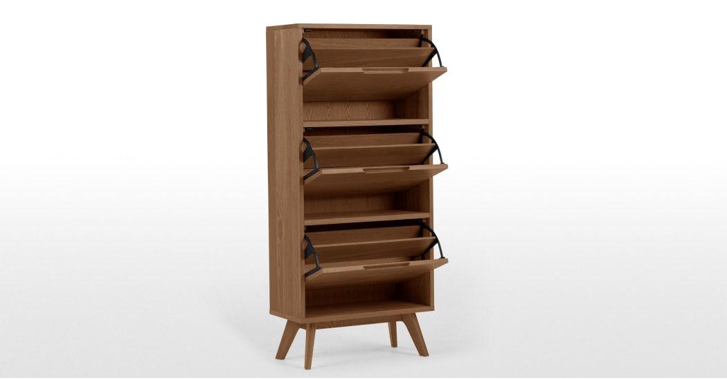 Jenson Shoe Storage Cabinet Dark Stain Oak Shoe Storage Shoe Storage Cabinet Oak Shoe Storage