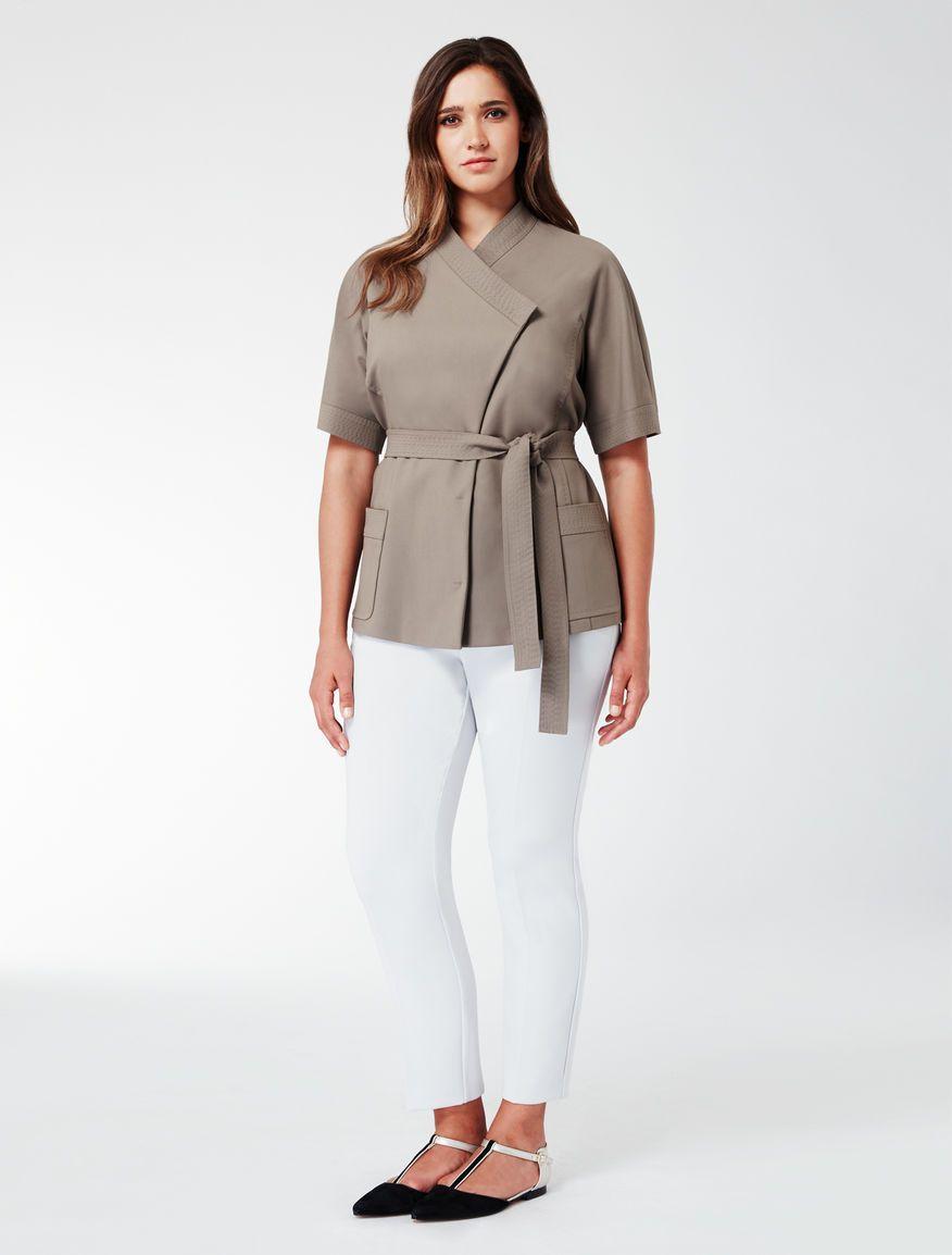 Marina Rinaldi CARBONE brown  Double cotton jacket.  25029d24f5ed