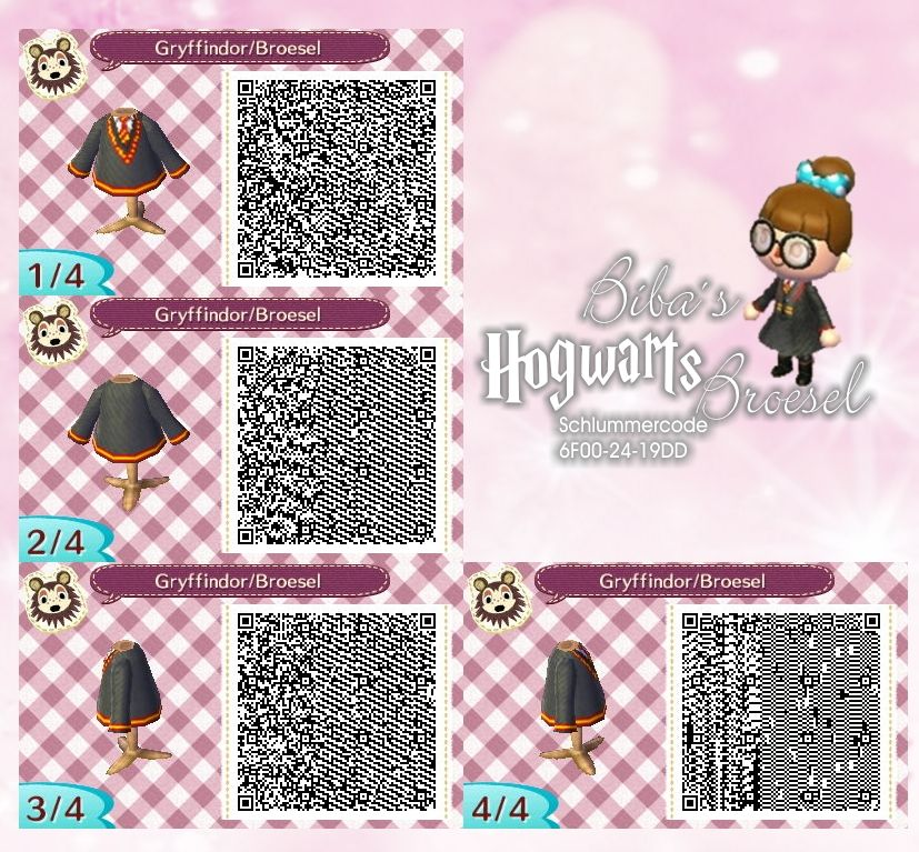 Pulli Pullover Sweater Gryffindor Wizard Zauberer Broesel Spiel A Letter From Hogwarts Animal Crossing Animal Crossing Qr Qr Codes Animal Crossing