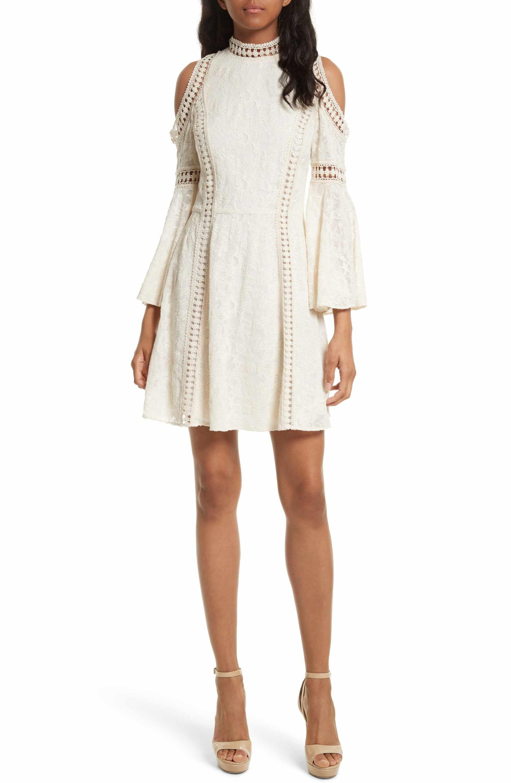 e4c4570e0087 Main Image - Alice + Olivia Enya Embroidered Cold Shoulder Dress ...