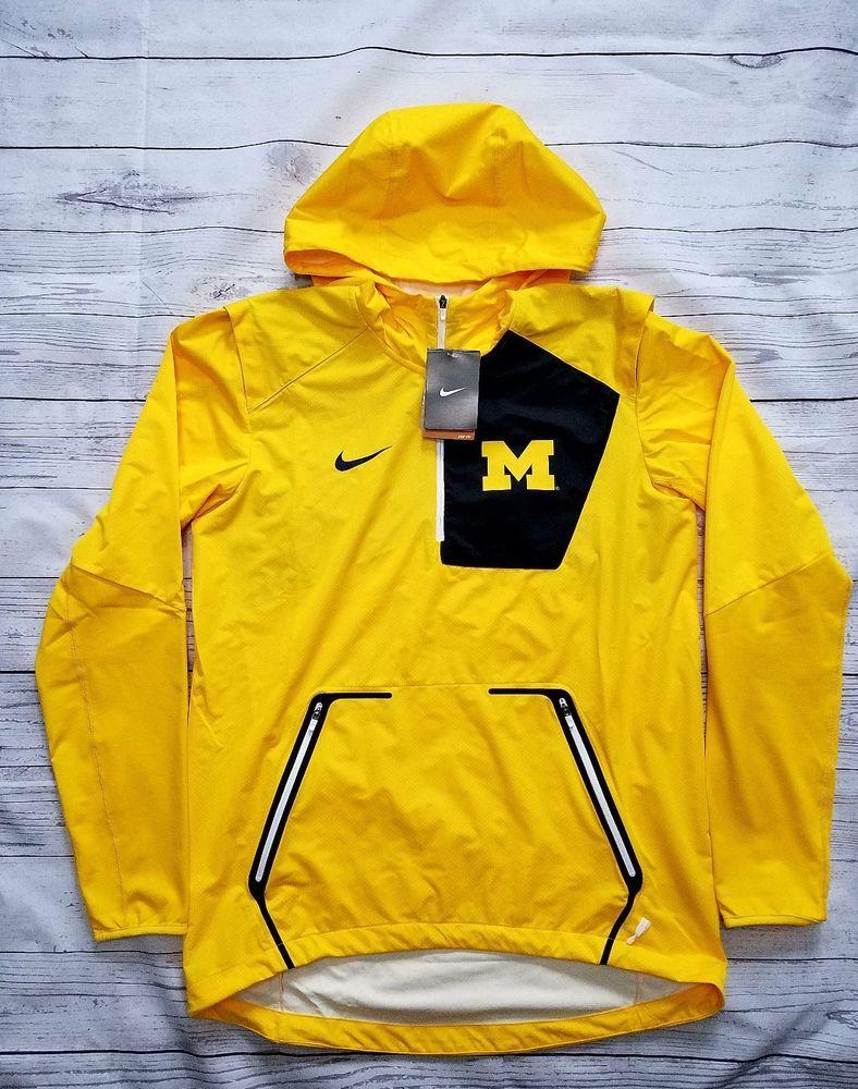 NWT Nike Mens Alpha Fly Rush Michigan Wolverines Jacket