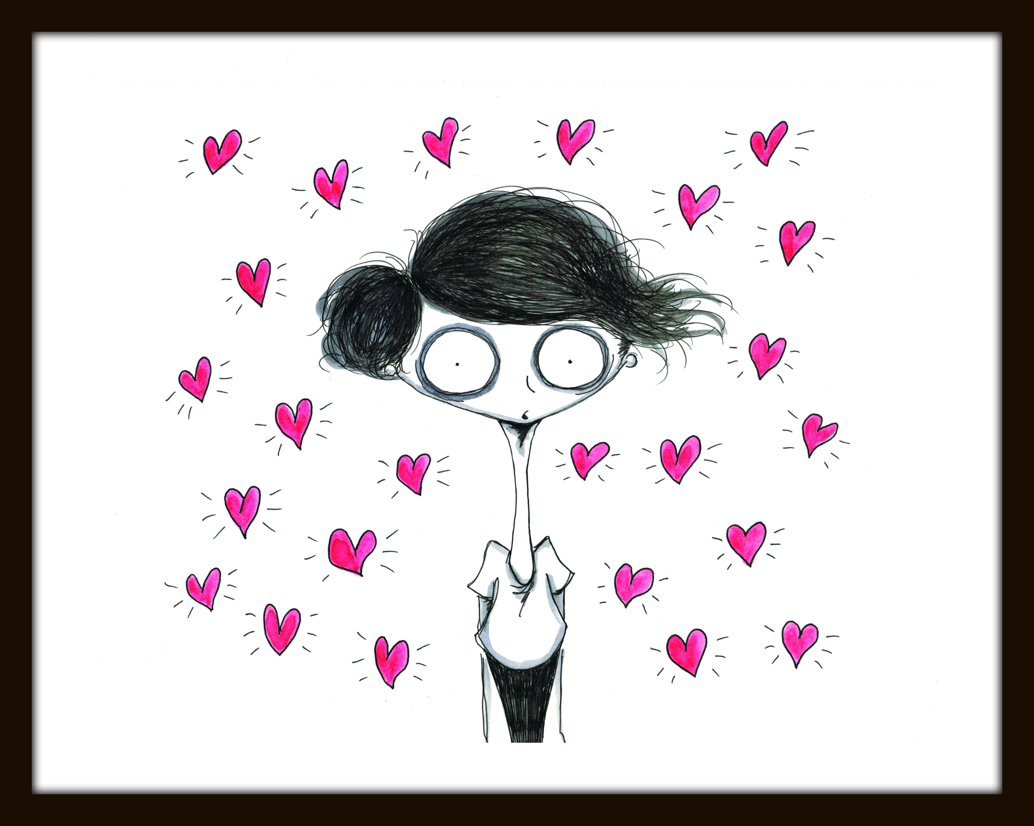 Hearts Limited Edition Print – Paper and Fabric