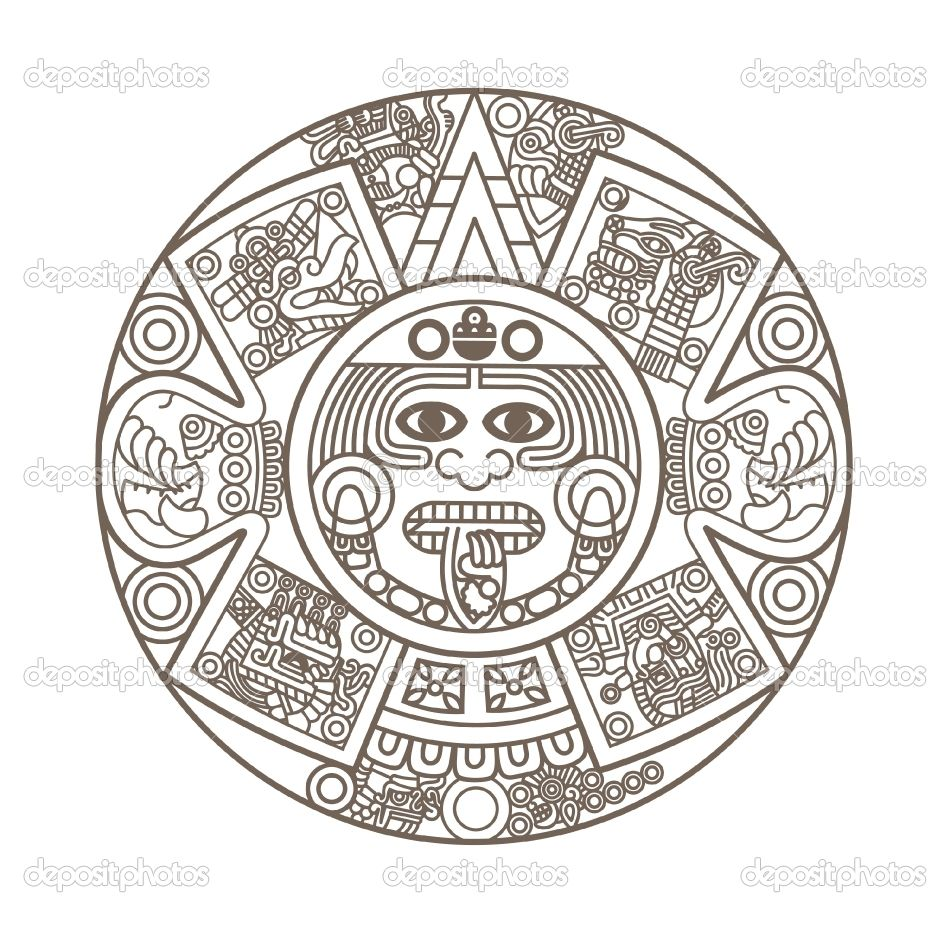aztec calendar coloring page tattoo books worth reading