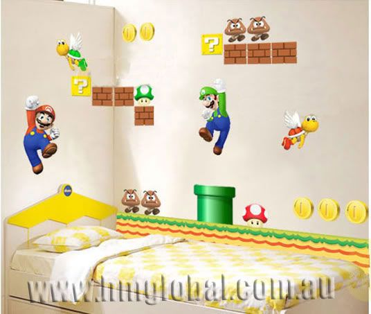 Merveilleux Gullei Trustmart : Super Mario Game Kids Bedroom Wallsticker Decal   Size  Of Sticker After Pasting On Wall U003d X Quality Standards: EU ROHS  Environmental ...