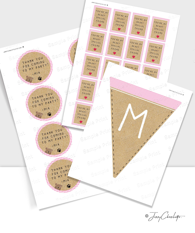 DIY Printable Labels & Bunting for Teddy Bears Picnic Birthday ...
