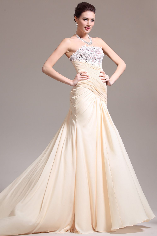 Usd edressit new elegant strapless lace evening dress