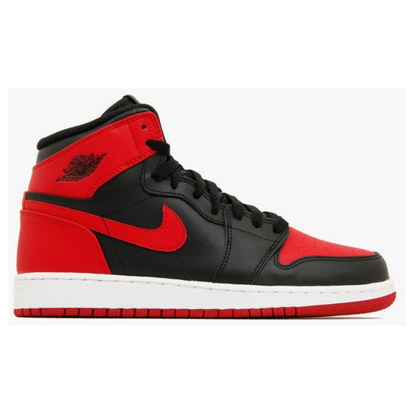 first rate 4cfa0 c8771 Nike Air Jordan 1 Retro High OG (GS) Bred (575441-023)   KIX-FILES ❤ liked  on Polyvore featuring shoes and sneakers