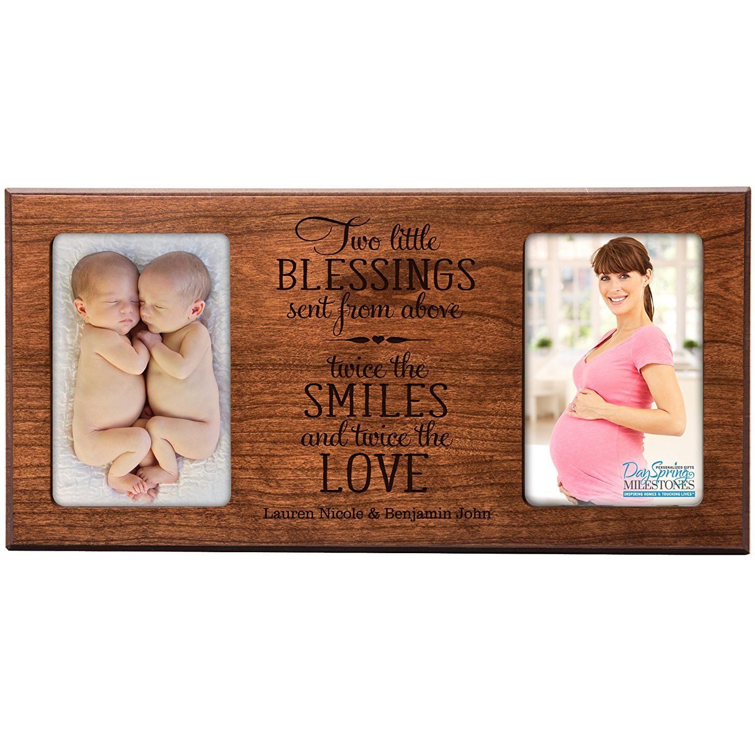 Personalized New baby gifts for twins picture frame for boys and ...