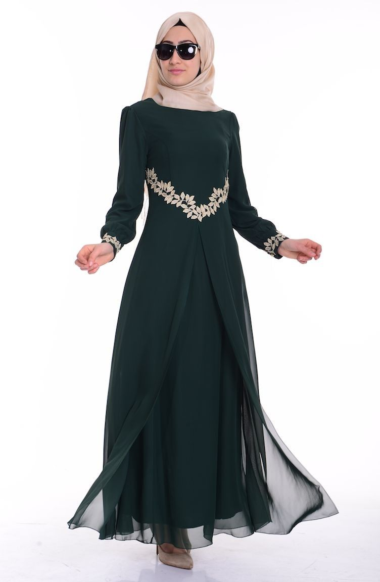 Sefamerve Tesettur Sik Elbise Modelleri Moda Tesettur Giyim Elbise Sifon Elbise Elbise Modelleri