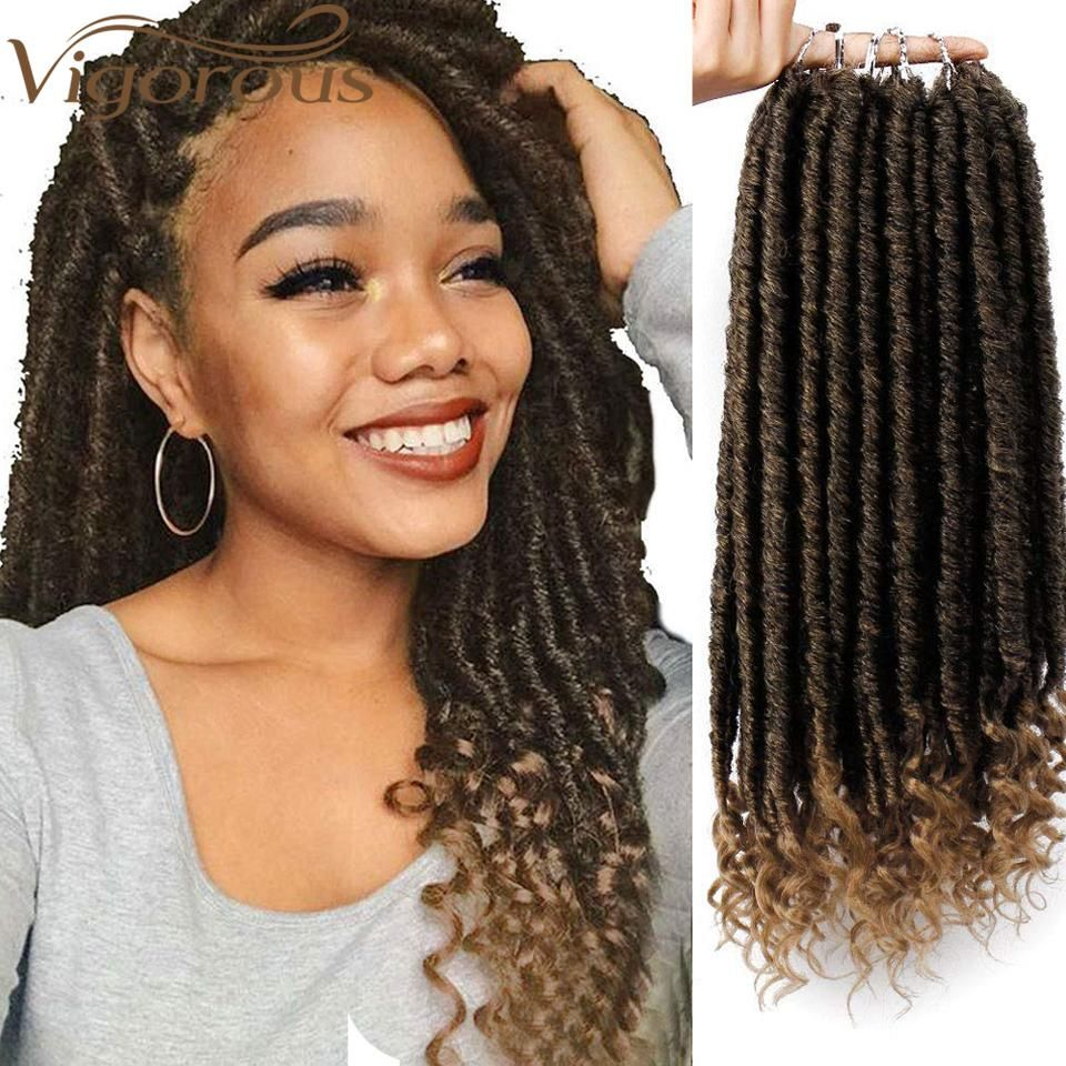 Brand Name Vigorous Color Type Pure Color Texture Faux Locs Can Be Permed No Material Grad Faux Locs Hairstyles Curly Faux Locs Curly Faux Locs Crochet