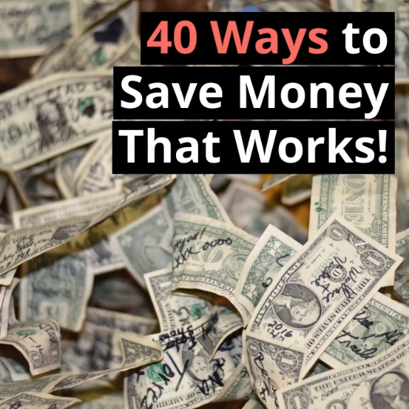 How to save money the right way. Learn 40 realistic ways we save money and start today. #savemoney #finance #debt #budget #reallife #money #tips #ideas #frugal