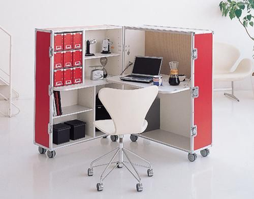 Modern Home Office Furniture On Wheels Allowing Flexible Interior Design Portable Deskportable