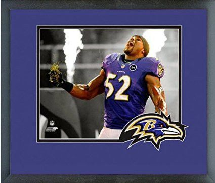 separation shoes 065fc 165ac Ray Lewis Framed With Team Color Double Matting Ready To ...