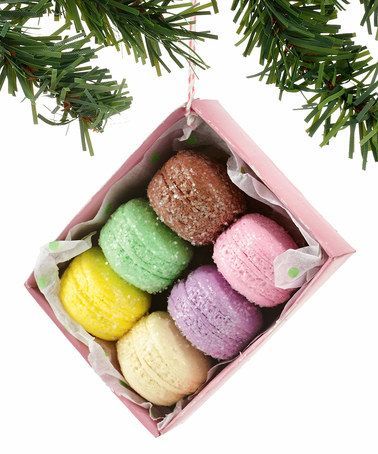 Look what I found on #zulily! Christmas Boxed Macaroons Ornament #zulilyfinds