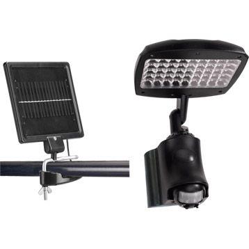 projecteur d tection solaire cara bes 270 lumens noir inspire leroy merlin id es d co. Black Bedroom Furniture Sets. Home Design Ideas