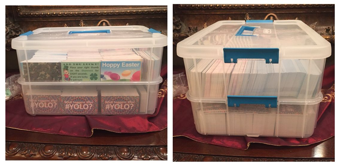 I Found A Good Storage Container At Dollar General It S A 2 In 1 That Is Detachable Each Level Holds Around 2000 Trac Hoppy Easter Storage Storage Containers