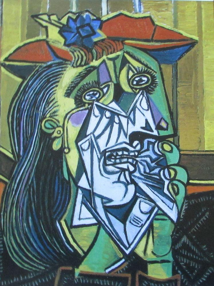 Pablo Picasso WEINENDE FRAU - MAYA MIT PUPPE 2 Kunstdrucke Reproduktion Kunst