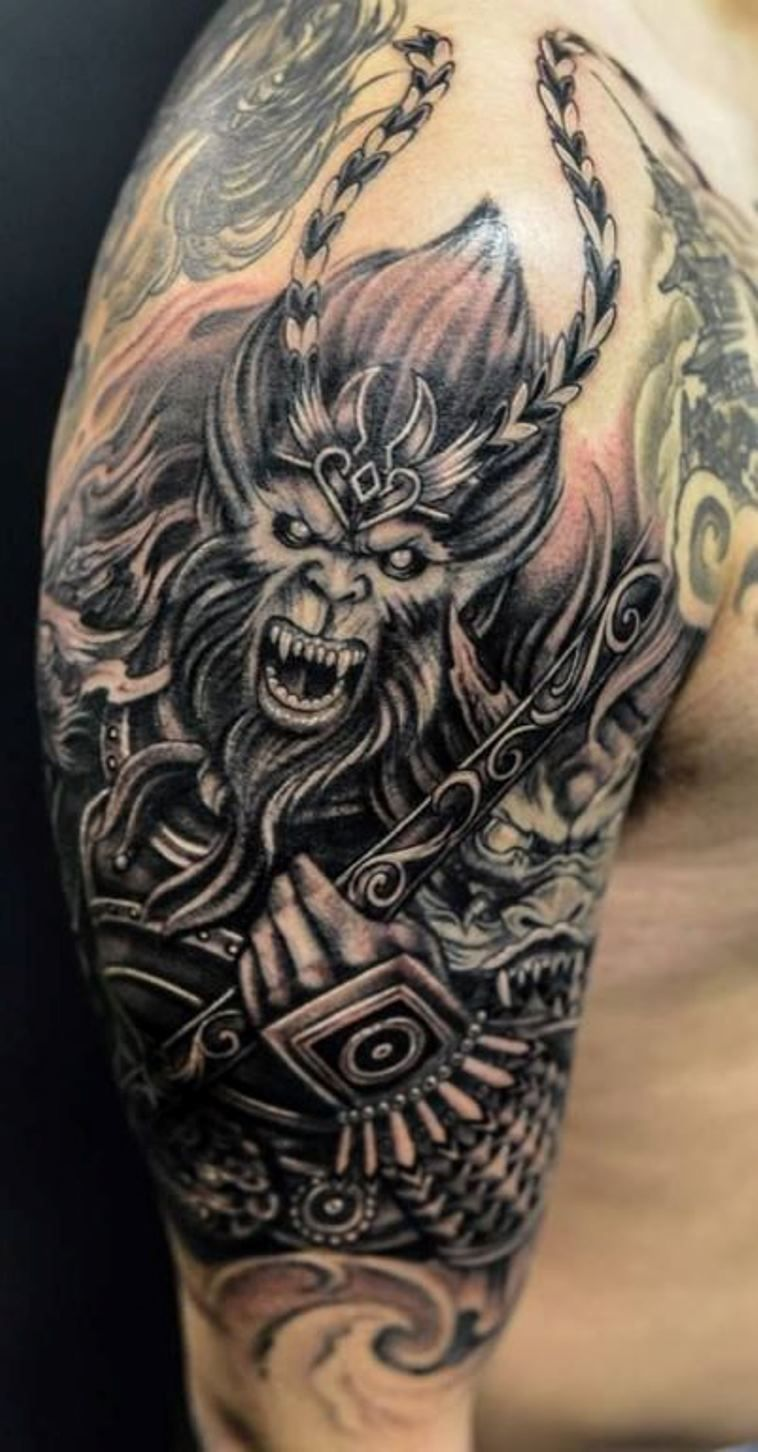 10 monkey king tattoo tattoo pinterest king tattoos monkey king and monkey. Black Bedroom Furniture Sets. Home Design Ideas