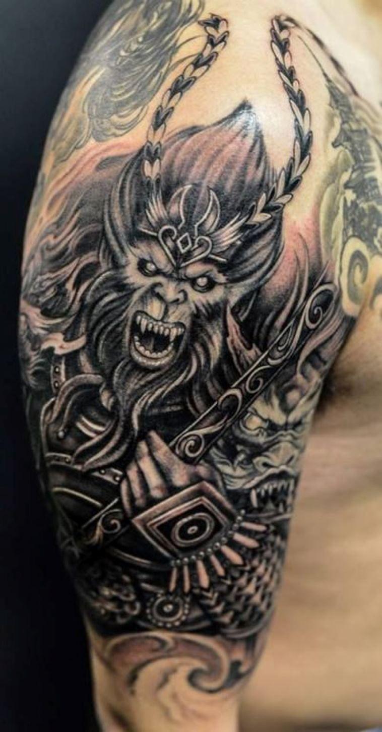 10 Monkey King Tattoo Tattoo Monkey Tattoos King Tattoos