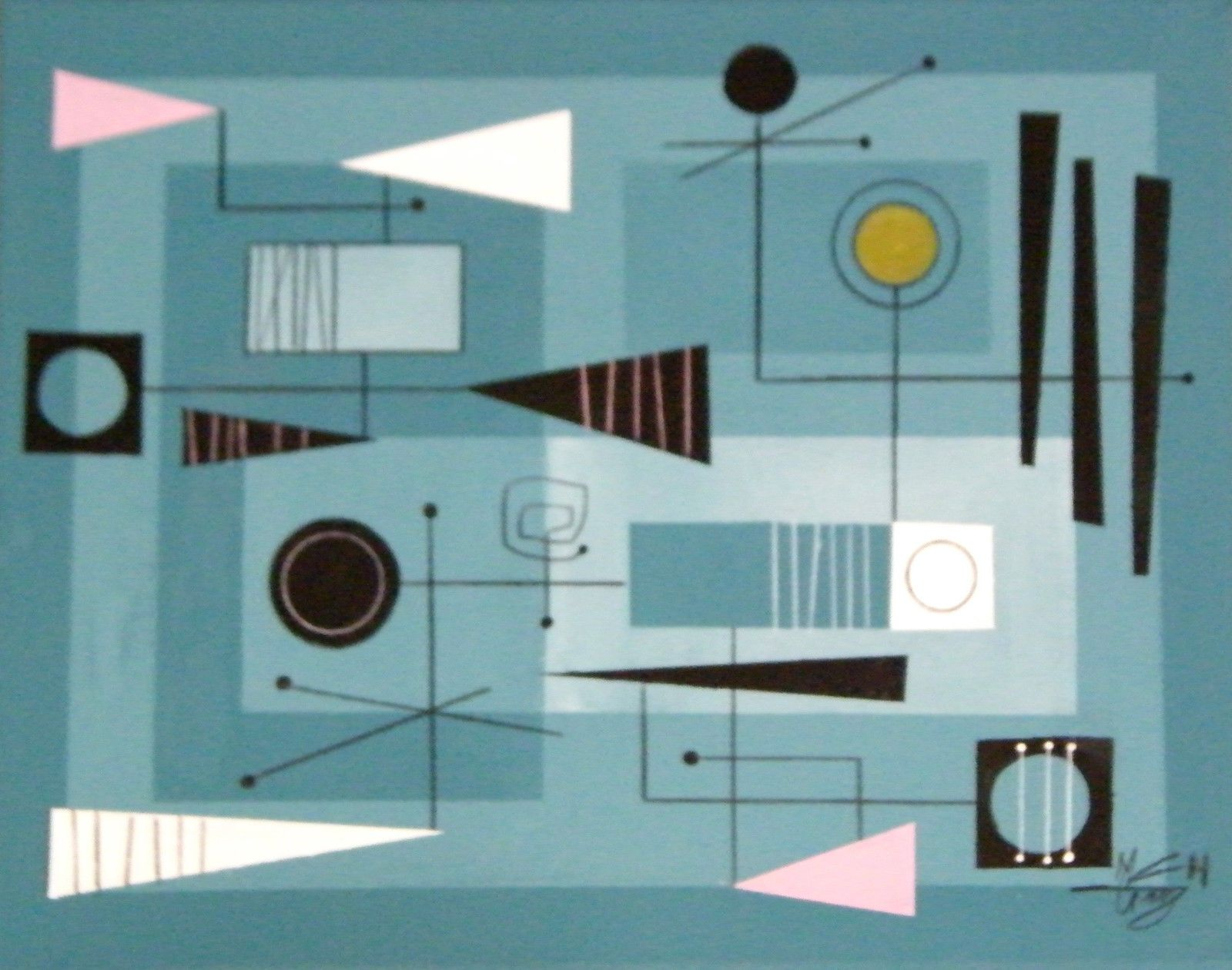 Mid Century Modern Art oversized mid century modern paintings - what if we had a piece