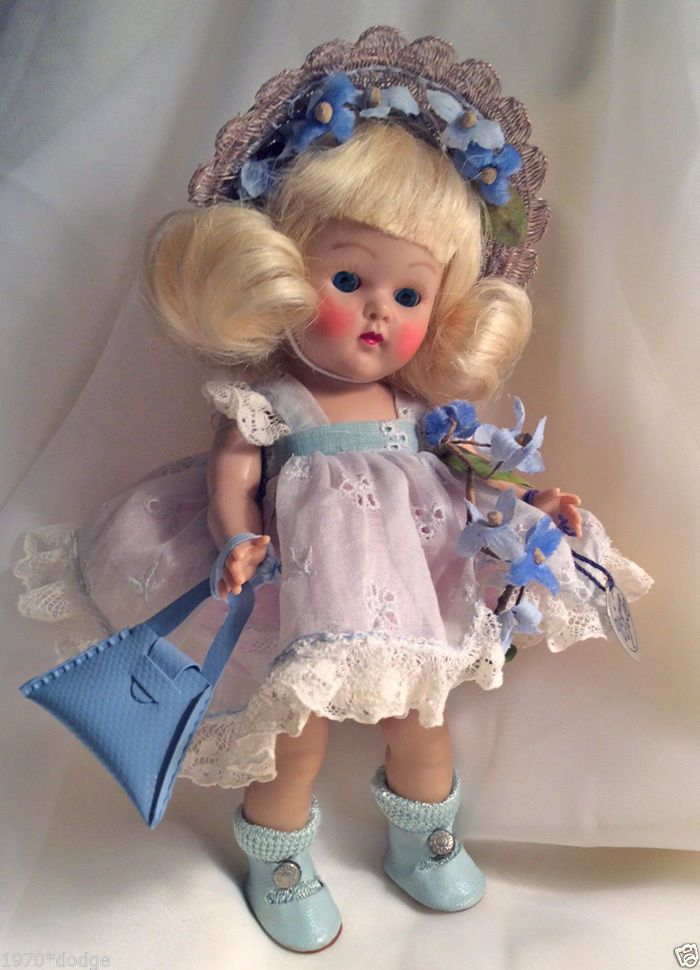 Furry ICE SKATES For Vogue Ginny Vintage Antique Doll BLUE