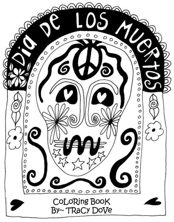 Dia De Los Muertos Coloring Book by tracydove on Etsy, $12.00 | DAY ...
