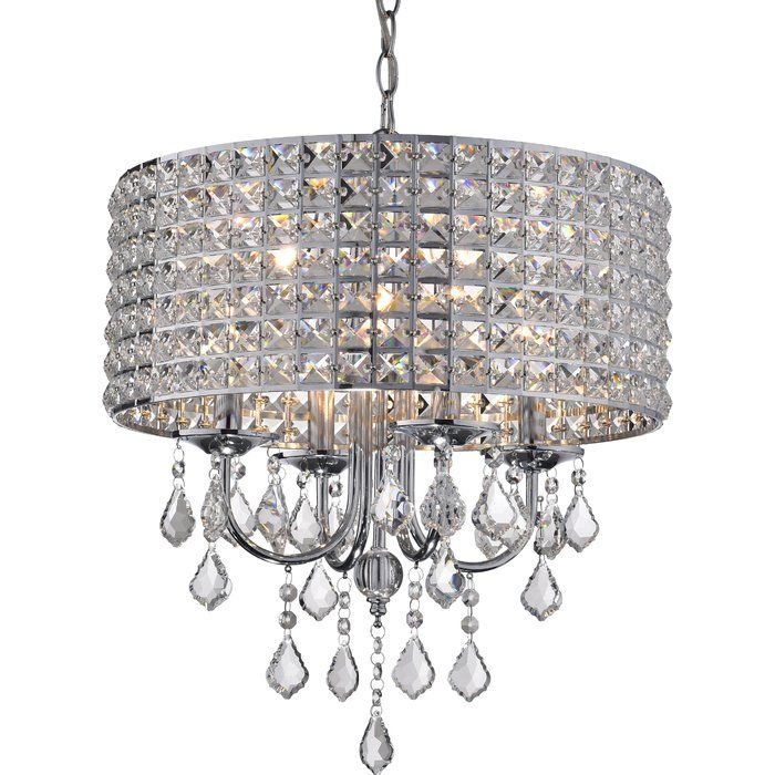 Albano 4 Light Crystal Chandelier