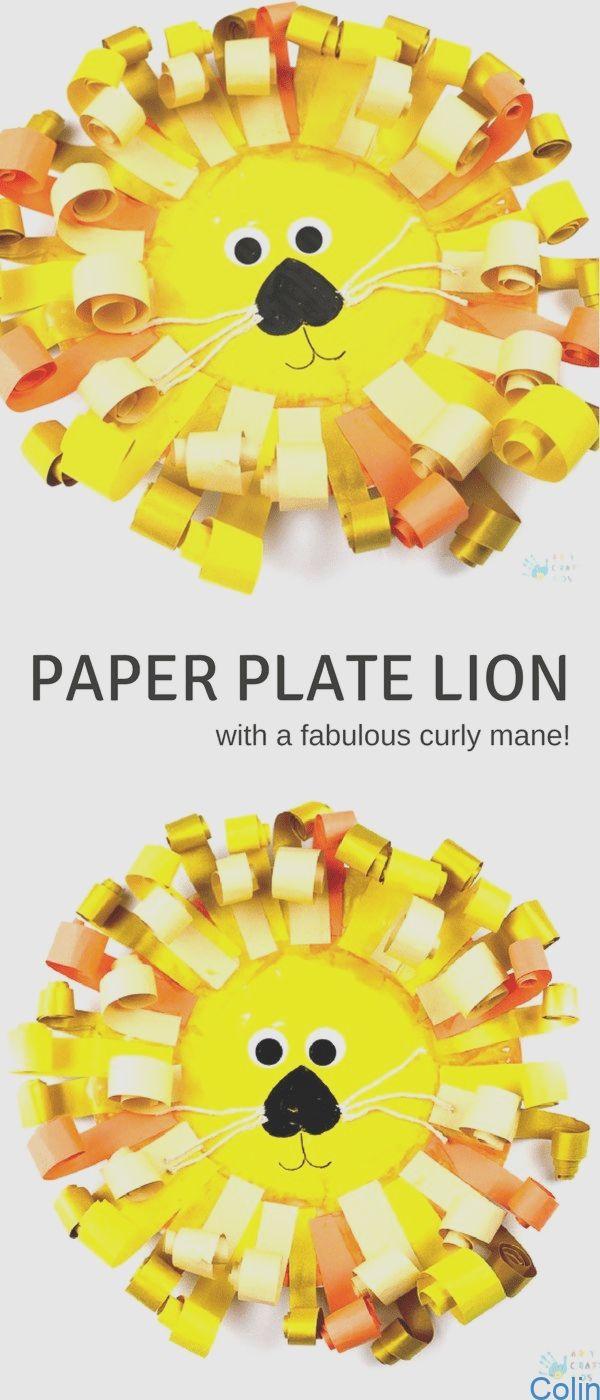 #animalcrafts #Craft #Gelockter #Lion #Pappteller Gelockter Pappteller Lion Craft  – Arty Crafty Kids  Curly Paper Plate Lion Craft    Einfacher und niedlicher Pappteller Lion Craft mit einer fabelhaften lockigen Papiermähne. Kinder werden den Prozess des Schneidens, Eisstockschneidens und Klebens lieben, um Lions mit Persönlichkeit zu kreieren. Dies ist natürlich perfekt, um Feinmotorik zu entwickeln und kreatives Spielen zu fördern. #vorschulkunst #kidscraft #kreativehandwerke