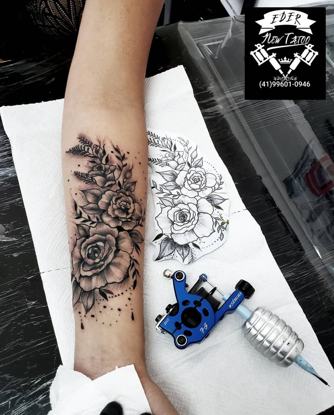Eder Barbosa #tattoorosablackandgray #tattooink #tattoodo #instanize #tattoobr  para orçamentos chamar inbox ou whats 🔴(41)99601-0946🔴EDER🆕️TATTOO