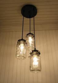 mason jar chandelier (!)