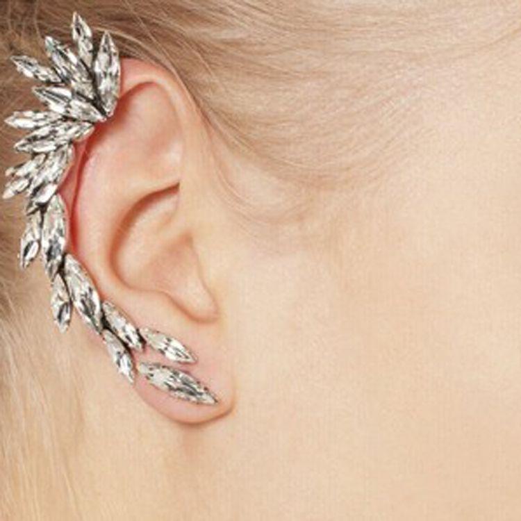 6607cc666e954 Barato Punk exagerada menisco Gem clipe brincos Earcuff punhos da orelha  para mulheres jóias cartilagem brincos EH36, Compro Qualidade Brinco de  pressão ...