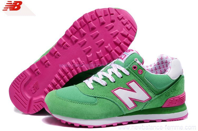 chaussures de séparation 6cdf7 9940a new balance femme rose et verte, new balance femme rose ...