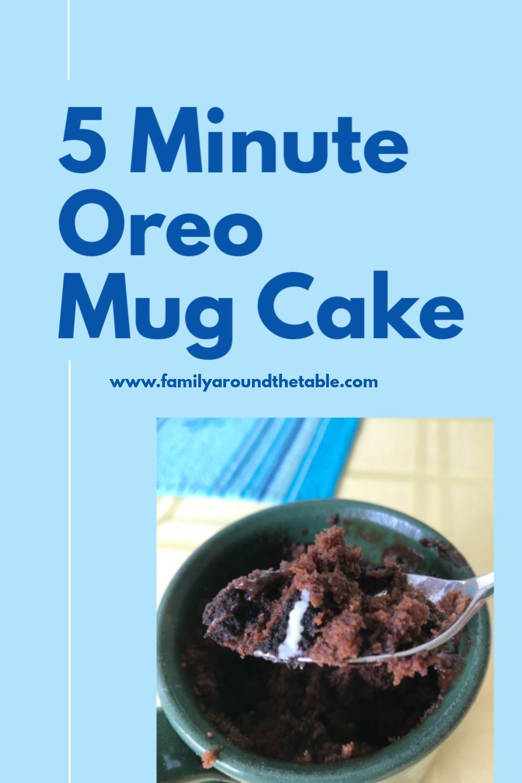 Oreo Mug Cake   Recipe in 2020   Yummy food dessert, Mug ...