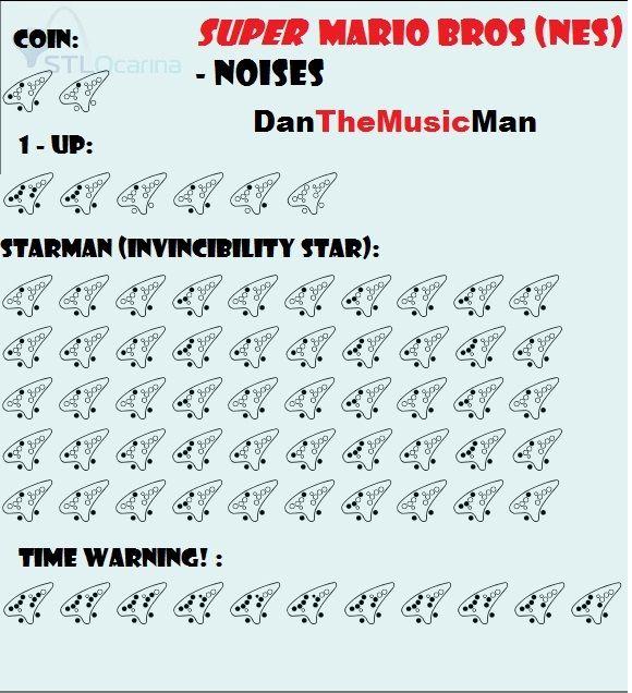 Noises Super Mario Ocarina Music Ocarina Tabs Mario Songs Easy Sheet Music