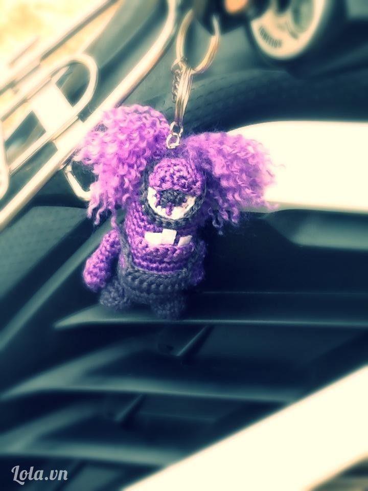 Crochet minion purple evil minion // great details! love it ...